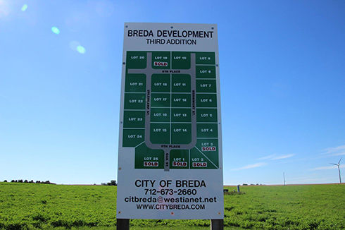 City of Breda has Lots Available for Purchase